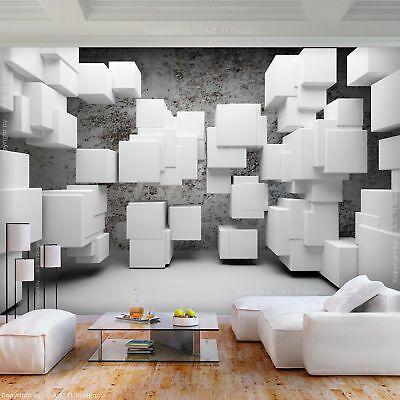 Vlies Fototapete Abstrakt Weiss Grau 3d Effekt Tapete Wohnzimmer Wandbilder Xxl Wandtapete Tapeten Fototapete 3d