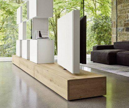 Livitalia Roto Lowboard Raumteiler Mit Drehbarem Tv Paneel In 2020