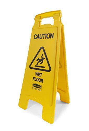 Rubbermaid Commercial 26 Inch Caution Wet Floor Sign 2 Sided Yellow Fg611277yel Wet Floor Signs Wet Floor Rubbermaid