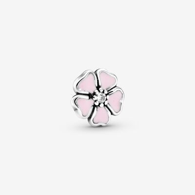 Pink Cherry Blossom Flower Petite Charm In 2020 Locket Design Cherry Blossom Flowers Cherry Blossom Charm