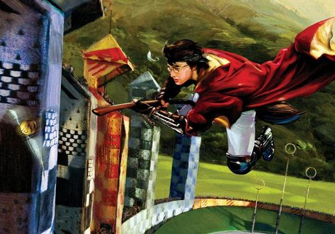 Harry Potter Golden Snitch Jim Salvati SIGNED Giclee on Canvas Limited Ed 100