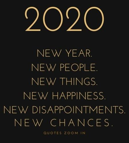2020 New Year New People New Things New Happiness New