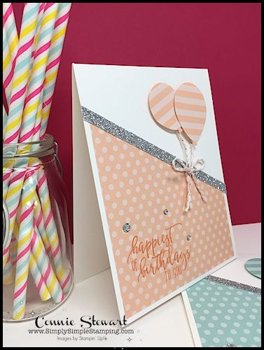 Birthday Balloons Make It In Minutes Video By Connie Stewart Created With The Picture Perfect Birthday Cards Diy Handmade Birthday Cards Birthday Card Craft