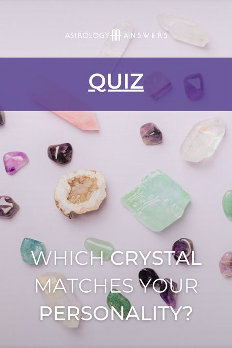 Which crystal goes best with your personality? ✨ Discover by taking our brand new quiz! #crystals #crystalhealing #crystalpersonality