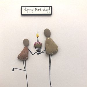 Birthday Card Husband Card Anniversary Card Pebble Card Pebble Art Quirky Card Unusual Card Personalised Unique You Are My Rock Pebble Art Handmade Birthday Cards Selling Handmade Items