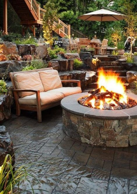Outdoor Fireplace Designs, Outdoor Patios With Fireplaces Design