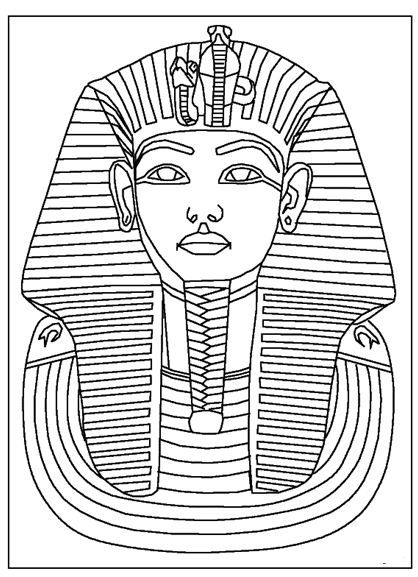 King Tut Coloring Page Ancient Egypt For Kids Ancient Egypt Crafts Ancient Egypt Pharaohs