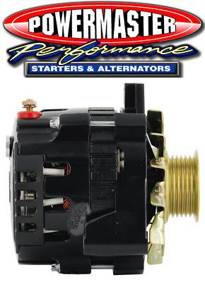 Powermaster 57461 GM CS130 Alternator 140A Left Mount w// BAT Post Black