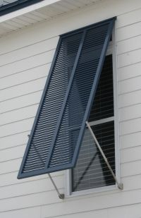 Nice Aluminum Hurricane Shutters   Over Transom Windows To Control Heat In  Summer. Bermuda ShuttersBahama ShuttersWood ShuttersExterior ...