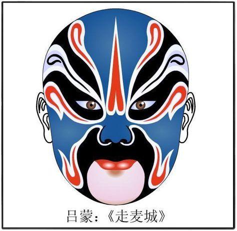 Chinese opera - opera character mask