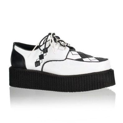2 Inch Mens Platform Shoes Argyle Veggie Creeper Shoe Punk