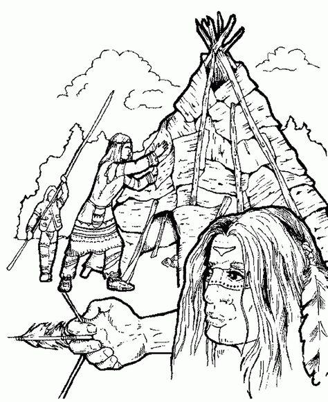 indianer 42 ausmalbilder | resimler | coloring pages