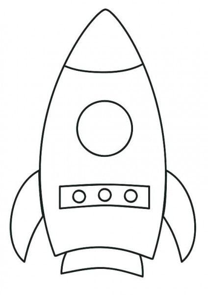 Imagen De Un Cohete Para Colorear Imagenes Para Colorear Ninos Manualidades Para Ninos Pequenos Colores