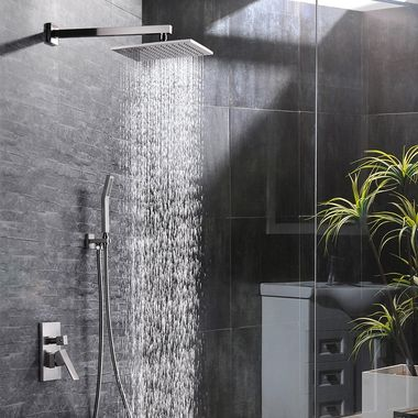 Sr Sun Rise 12 Inch Bathroom Luxury Rain Mixer Shower Combo Set
