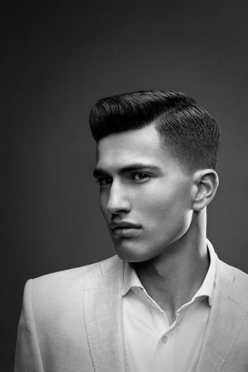 American Crew Pomade Mrs Jj Loves Hair Mens Haircut Shaved Sides American Crew Haircuts For Men