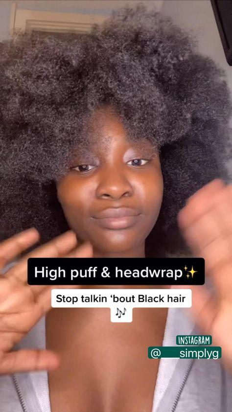 High puff & Headwrap