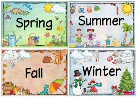 Ideenreise: Jahreszeitenplakate für Englisch