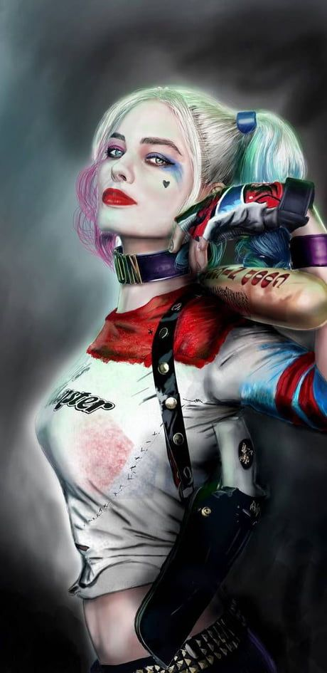 Pin On Harley Artwork female joker wallpaper