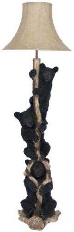Black Bear Lamp 2 Tree Floor Lamp Lamp Bear Decor