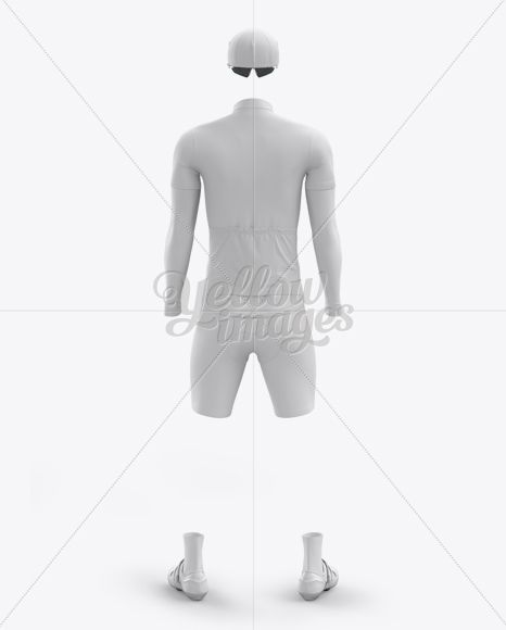 Men S Full Cycling Kit With Cooling Sleeves Mockup Back View In Apparel Mockups On Yellow Images Object Mockups Clothing Mockup Cool Sleeves Mockup Free Psd