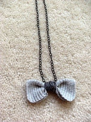 DIY  Super Easy Anthro KnockOff Bow Necklace  TUTORIAL