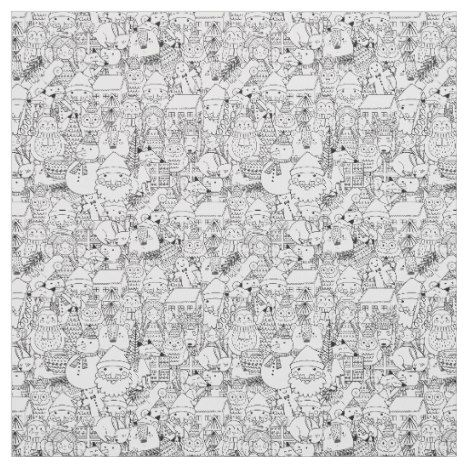 Coloring Book Print Fabric Collection