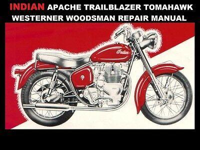Indian Apache Service Repair Manual 120pg For Trailblazer Tomahawk Westerner In 2020 Trailblazer Repair Manuals Repair