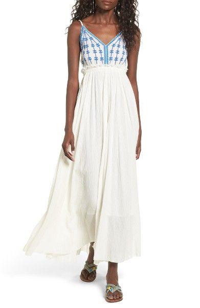 Main Image Raga Riptide Embroidered Maxi Dress Clothes