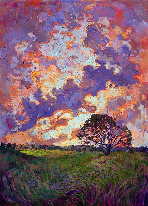 Burst of impressionist color and impasto brush strokes capture the beauty of the…