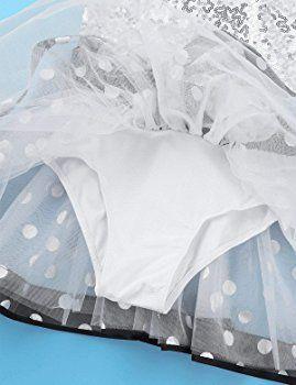 dPois Enfant Fille Tutu Ballet Classique Robe Danse Contemporaine Robe /À Paillettes Patinage Justaucorps Gymnastique Tenue Moderne Jazz Costume Spectacle 4-10 Ans
