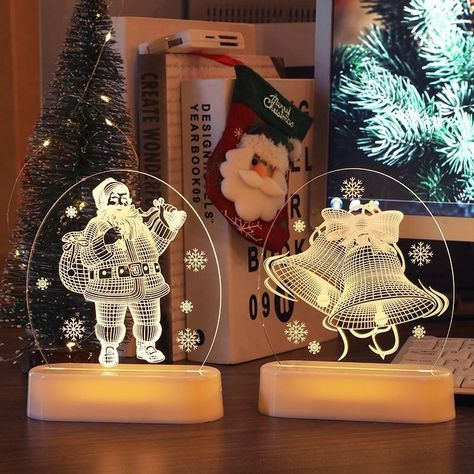 Christmas Santa Claus 3D Night Lamp 3D Hologram Holiday gifts perfect for the holidays