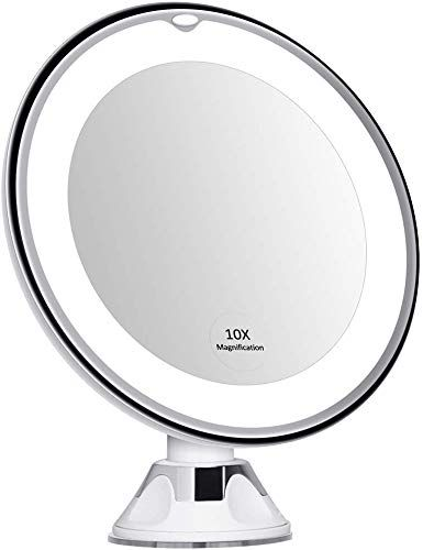 Best Seller 10x Magnifying Mirror Lights Lighted Magnifying Mirror Portable 10x Hand Mirror Stand Magnified Mirror Suction Cup 10x Mirror Light Makeup Tra In 2020 Mirror With Lights Hand Mirror Magnifying Mirror