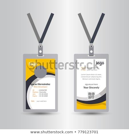 Creative Simple Yellow Black Id Card Design Vector Template Colorful Business Card Business Card Design Creative Free Printable Business Cards