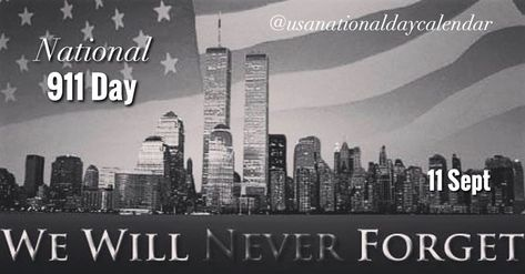 """Wednesday September 11, 2019: . 📌National 911 Day/Day of service and remembrance . National Women's Baseball Day . National Make Your Bed Day . National Libraries Remember Day . National """"I want to start my own business"""" Day . National Emergency Responders Day . National Hot Cross Buns Day . National No News Is Good News Day . National Patriot Day . National Remember Your Freedom Day - - 📸: @usoptics_official . - - #remember #remember"""
