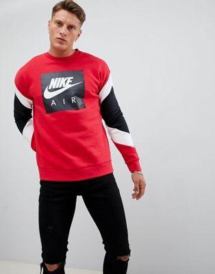 Nike Air Sweatshirt In Red 928635 687 | Мода, Мужская мода
