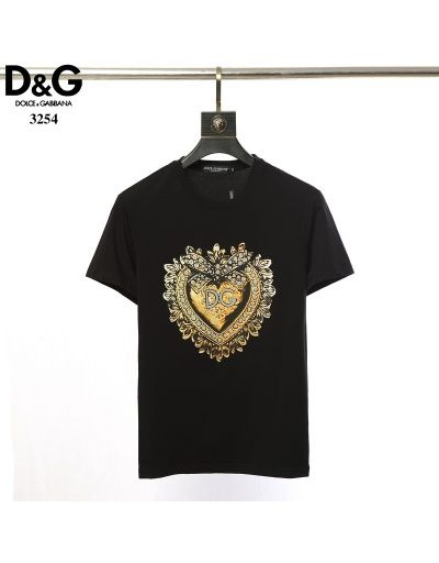Dolce/&Gabbana Men/'s T-Shirt embroidered Logo// Designer Shirts//D/&G