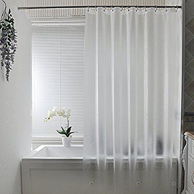 Amazon Com Aoohome Frosted Shower Curtain Liner Eva Extra Long