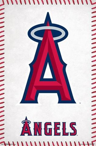 Los Angeles Angels Official Mlb Baseball Team Logo Poster Trends International Mlb Baseball Teams Los Angeles Angels Baseball Baseball Teams Logo