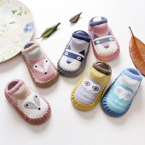 Fashion Infant Newborn Baby Anti Slip Floor Socks Shoes non-slip Soft Sole Socks