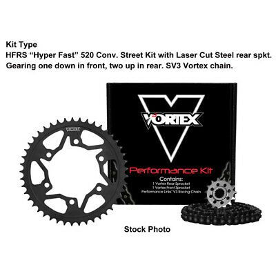 Black Vortex 520 Rear Sprocket  Steel 45T