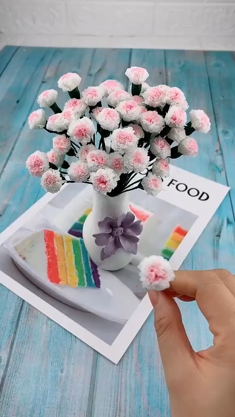 Use unwanted paper towels to make beautiful flowers. Save it. Do it for yourself, decorate your room. Follow us, get more exciting and the idea.