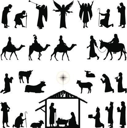 Pin By Elfi30koslowski7 On Scenes Nativity Silhouette Nativity Scene Silhouette Christmas Nativity
