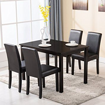 Dining Room Chairs Set Of 4 Amazon Com 4 Family 5 Piece Dining