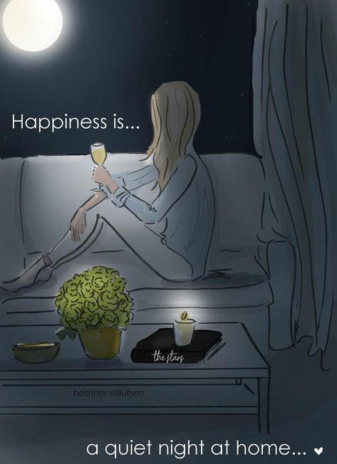 This Happiness is A Quiet Night at Home - Heather Stillufsen - Wall Art for Women is just one of the custom, handmade pieces you'll find in our prints shops.