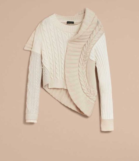 Keep it tone on tone in this Burberry Panelled Cashmere, Cotton and Wool Sweater