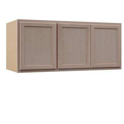 Assembled 54x24x12 In Wall Kitchen Cabinet In Unfinished Beech