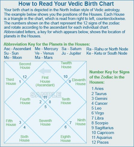 Download Free Beginners Guide To Vedic Astrology Birth Chart