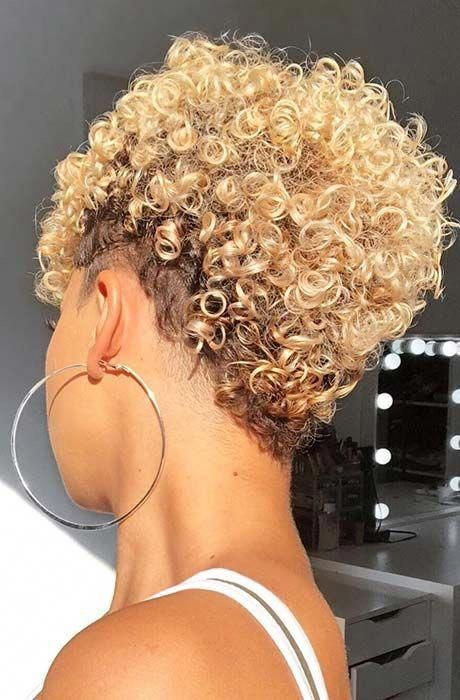 50 Stylish Short Hairstyles For Black Women Part 68 Curlyhair Natural Hair Styles Hair Styles Curly Hair Styles Naturally