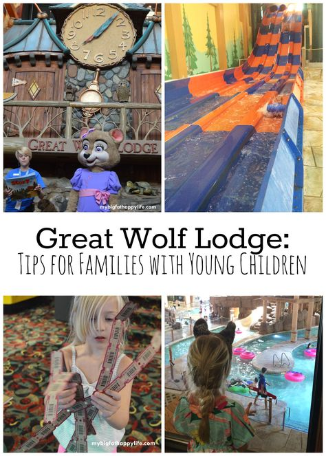 Tips for families with young children to help them enjoy a wonderful vacation or staycation at Great Wolf Lodge - an indoor waterpark.