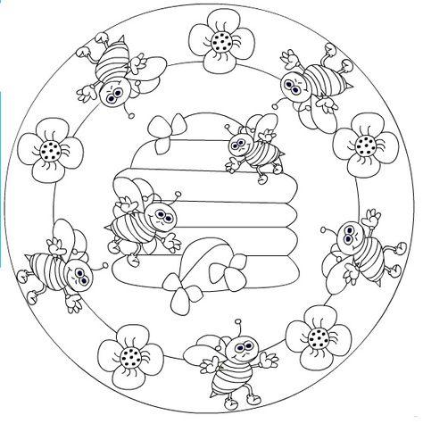 coloriage de Mandala 6287 Rovarok, lepkék Bugs, butterflies - copy coloring pages of 3d shapes